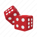 cartoon, casino, cube, dice, gamble, game, play