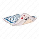 ace, card, cartoon, club, game, heart, magic icon