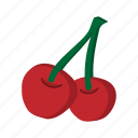 berry, cartoon, cherry, food, fruit, ripe, sweet icon