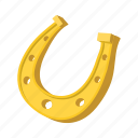 cartoon, gold, horseshoe, luck, lucky, shoe, talisman icon