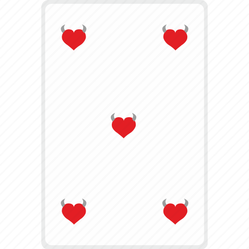 card, casino, five, game, poker icon