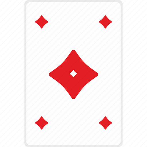 card, gamble, game, poker, red, rombus icon