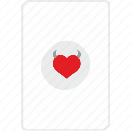 card, casino, gamble, game, poker, red icon
