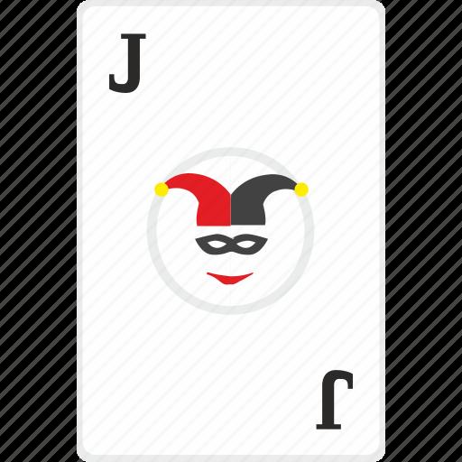 card, gamble, game, j, joker, poker icon
