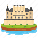 castle, castle building, fort, kingdom castle, medieval castle icon