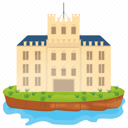 Bangalow, island castle, luxury house, mansion, palace icon - Download on Iconfinder