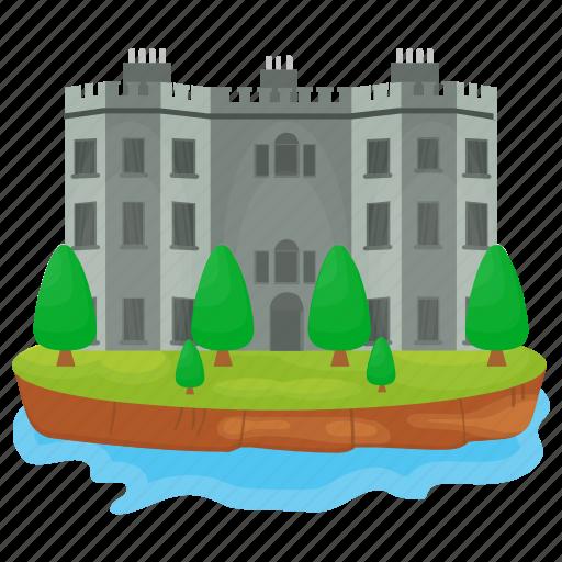 castle, fortress, historical place, kingdom castle, medieval castle icon