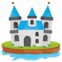 castle, castle building, fairyland castle, fort, kingdom castle icon