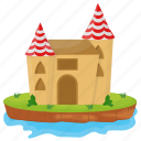 castle, castle tower, fairyland castle, fort, kingdom castle icon