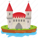 castle building, fort, fortress, kingdom castle, monument icon