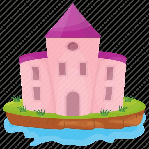 Castle, castle building, castle tower, fairyland castle, fortress icon - Download on Iconfinder