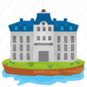 bangalow, island castle, luxury house, mansion, palace