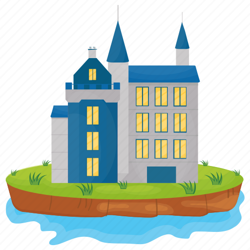 Castle, castle building, castle tower, fairyland castle, fortress icon - Download on Iconfinder