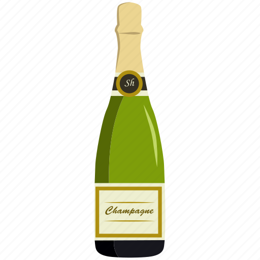 alcohol, beverage, bottle, champagne, drink, glass icon