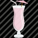 alcohol, beverage, cocktail, drink, glass, shake, umbrella