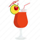 alcohol, beverage, cherry, cocktail, drink, glass, shake