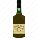 alcohol, beverage, bottle, brandy, drink, glass icon