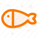 cat food, fish, line icon icon