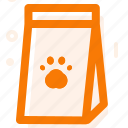 box, cat food, food, line icon icon