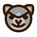 animal, avatar, bad, cat, emoji, emoticon, face