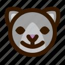 animal, avatar, cat, emoji, emoticon, face, happy icon