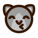 avatar, cat, kiss, face, emoji, animal, emoticon