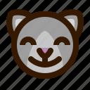 animal, avatar, cat, emoji, emoticon, face, satisfied