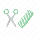care, cat, comb, haircut, scissors, tool icon