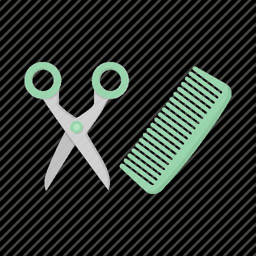 care, cat, comb, haircut, scissors, tool icon