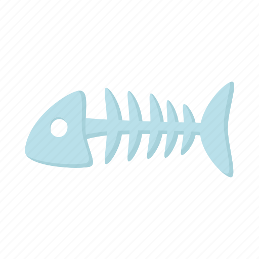 animal, bone, cat, fish, food icon