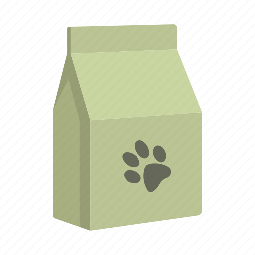 care, cat, feeding, food, package, packaging, trace icon