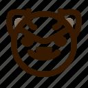 animal, avatar, cat, devil, emoji, emoticon, face