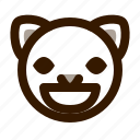 animal, avatar, cat, emoji, emoticon, face, grin icon