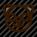 animal, avatar, cat, emoji, emoticon, face, nerd