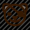 animal, avatar, cat, emoji, emoticon, face, pirate