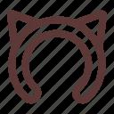 accessory, cat, cat ears, cute, ears, hat, headband icon