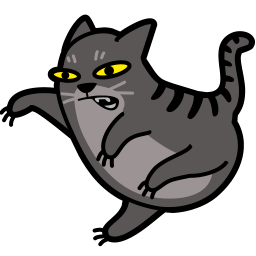 cat, catfight, fight icon