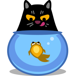 cat, fish icon