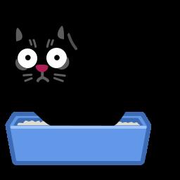 cat, cat litter, litterbox, poo icon