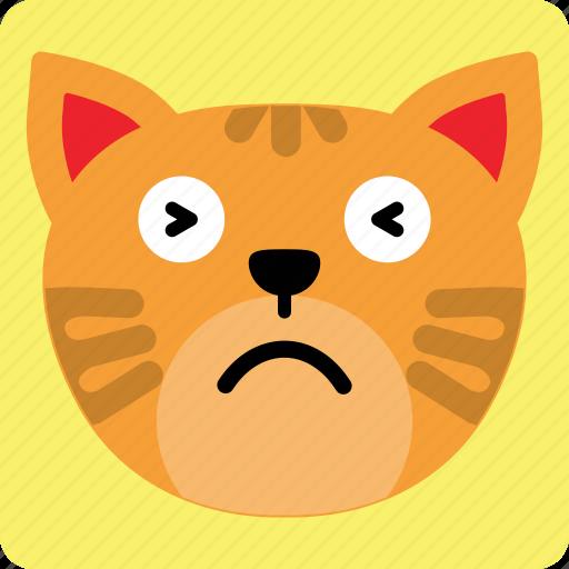 Cat, emoticon, expression, face, sad, smile icon - Download on Iconfinder