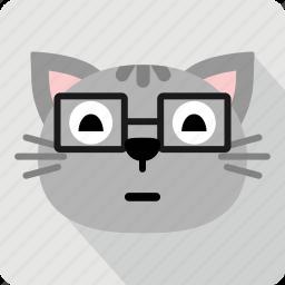 cat, emoticon, expression, face, sad, smile icon