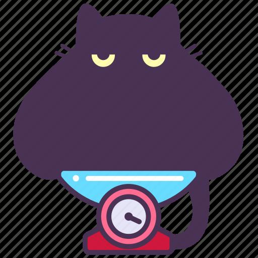 cat, fat, feline, horoscope, libra, scales icon