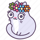 astrology, cat, feline, flower, virgo