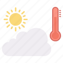 analysis, rainy, season, sun, temperature, weather icon