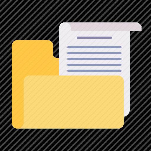 document, file, folder, important, paper icon