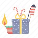 crackers, festival, holiday, lamp, prize, rocket, surprize icon