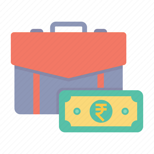 bag, business, currency, finance, note, office, ruppee icon