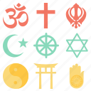 faith, hindu, pray, prayer, religion, trust icon
