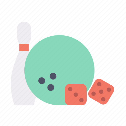 ball, bawling, dice, game, pin, sport icon