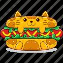 cat, fast, food, snack, cute, hot, dog